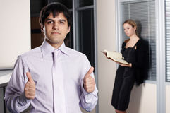 The businessman with the colleague Royalty Free Stock Photos