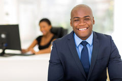 Businessman with colleague Stock Images