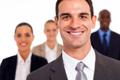 Businessman and colleagues Stock Image