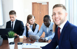 Businessman with colleagues Royalty Free Stock Photography