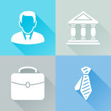 Businessman colorful flat icons Royalty Free Stock Photos