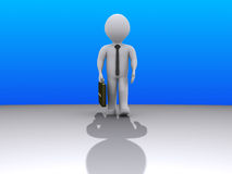 Businessman coming from afar Royalty Free Stock Image
