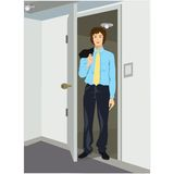 Businessman coming home Stock Photography