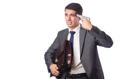 The businessman committing suicide isolated on Royalty Free Stock Images