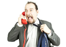 Businessman-communication Stock Image