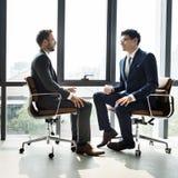 Businessman Communication Company Meeting Concept.  Stock Image