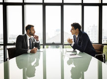 Businessman Communication Company Meeting Concept Royalty Free Stock Image