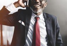 Businessman Communication Mobile Phone Connect Concept Stock Photography