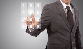 Businessman compose number Royalty Free Stock Photography