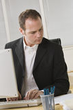 Businessman on Computer Stock Photos