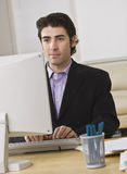Businessman on Computer Stock Image