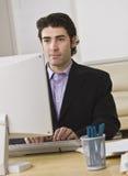 Businessman on Computer Stock Image