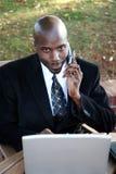 Businessman on Computer Stock Photos