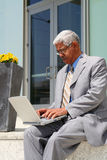 Businessman on Computer Stock Images