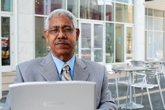 Businessman on Computer Royalty Free Stock Image