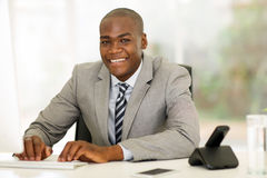 Businessman computer office Royalty Free Stock Photography