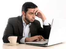 Businessman with Computer overworked Royalty Free Stock Photos