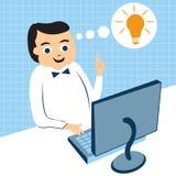 Businessman computer work Stock Image