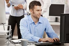 businessman computer working Στοκ Εικόνες