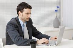 businessman computer working 免版税库存照片
