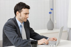businessman computer working στοκ εικόνα με δικαίωμα ελεύθερης χρήσης