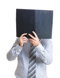 Businessman concentrate on reading document Royalty Free Stock Photography