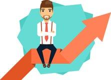Businessman concept confident progress Royalty Free Stock Image