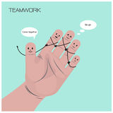 Businessman concept,funny fingers sign,teamwork concept Royalty Free Stock Image