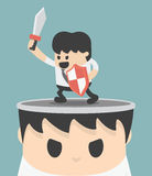 Businessman concept idea of fighting. Eps10 Stock Images