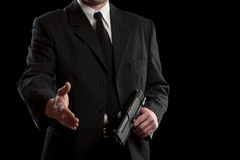 Businessman concept whit gun Royalty Free Stock Image