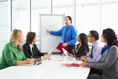 Businessman Conducting Meeting In Boardroom Royalty Free Stock Image