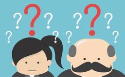 Businessman confused , eps10 vector format, flat design, question. Illustration design vector illustration