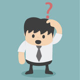 Businessman confusing. Illustration Cartoons concepts Royalty Free Stock Photo