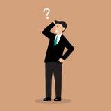 Businessman confusing. Vector illustration cartoon Stock Image