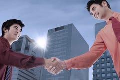 Business partnership outdoor Stock Image