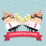 Businessman Congratulation party vector Royalty Free Stock Images
