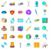 Businessman icons set, cartoon style. Businessman cons set. Cartoon style of 36 businessman vector icons for web isolated on white background Stock Photography