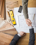 Businessman and construction engineer working together Royalty Free Stock Photography