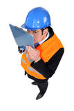 Businessman on a construction site Stock Photography