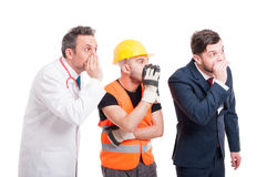 Businessman with constructor and medic Royalty Free Stock Photos