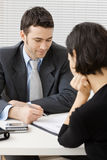 Businessman consulting Stock Images