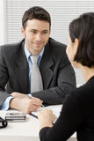 Businessman consulting Stock Photography