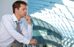 Businessman contemplating Stock Photos