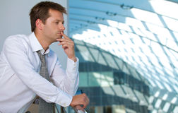 Businessman contemplating Royalty Free Stock Photo