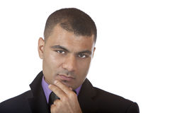 Businessman is contemplative Royalty Free Stock Photo