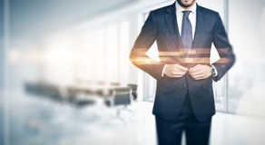 Businessman in contemporary office Stock Images