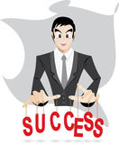 Businessman control success. Illustration of businessman is control success in EPS10 Royalty Free Stock Images