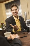Businessman in conversation. Stock Photos