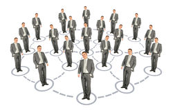 Businessman cooperation system scheme collage Royalty Free Stock Photography