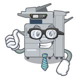 Businessman copier machine isolated in the cartoon. Vector illustration stock illustration